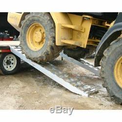 10,000 lb Skid Steer Loader & Tractor Trailer Haul Loading Ramps