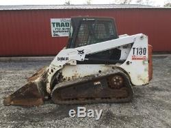2004 Bobcat T180 Tracked Skid Steer Loader with Cab