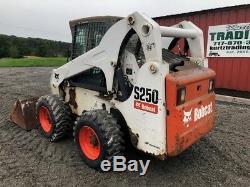 2007 Bobcat S250 Skid Steer Loader with Cab