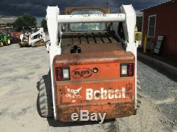 2008 Bobcat S300 Skid Steer Loader with Cab NO DOOR High Flow
