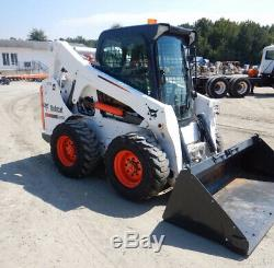 2010 Bobcat S650 Skid Steer Loader with Cab 2 Speed Only 2600 Hours