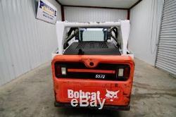 2013 Bobcat S570 Skid Steer Wheel Loader, Open Rops