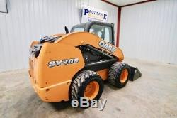 2013 Case Sv300 Skid Steer Wheel Loader 90 Hp, Ac/heat, High Flow, 2-speed