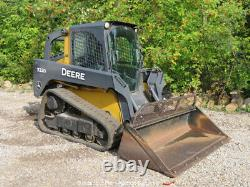 2013 John Deere 323D Skid Steer Track Loader Cab Crawler Aux Hyd Q/C EPA bidadoo