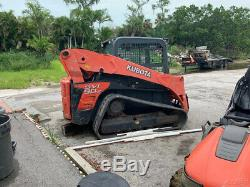 2013 Kubota SVL90-2 Compact Track Skid Steer Loader with Cab High Flow 1300 Hours