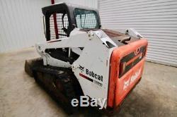 2014 Bobcat T550 Skid Steer Track Loader, High Flow, Open Rops, 66 HP