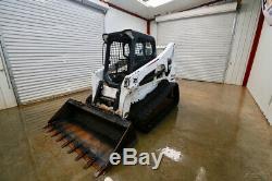 2014 Bobcat T750 Skid Steer Track Loader, 85 Hp, Float, Tipping Load Of 9,500lbs