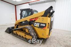 2014 Cat 299d Xps Cab Skid Steer Track Loader, Ac/heat/radio, 106 Hp, High Flow