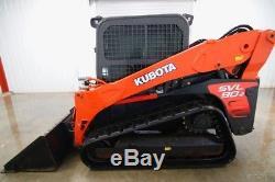 2014 Kubota Svl 90-2 Cab Skid Steer Track Loader, Ac/heat