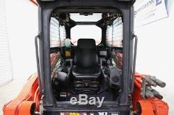 2014 Kubota Svl90-2hfc Cab Skid Steer Track Loader, High Flow, Warranty