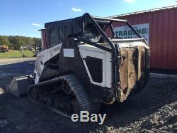 2014 Terex PT110F Forestry Compact Track Skid Steer Loader with Cab 2Spd High Flow