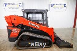 2015 Kubota Svl 75-2, 2-speed Cab Skid Steer Track Loader