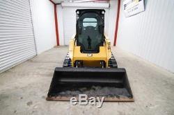 2016 Caterpillar 259d Cab Track Skid Steer Loader, 73 Hp, Warranty, 366 Hrs