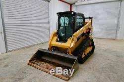 2016 Caterpillar 259d Cab Track Skid Steer Loader, Ac/heat, 73 HP