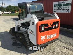 2017 Bobcat T450 Compact Track Skid Steer Loader Cab SJC 2Spd Only 100Hrs