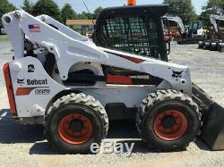 2018 Bobcat S850 Skid Steer Loader Joystick, 2 Speed, High Flow Only 200 Hrs