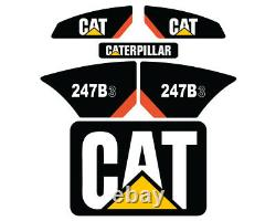 247B3 CAT Decals Stickers Skid Steer Set Kit FREE SHIPPING