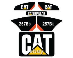257B3 CAT Decals Stickers Skid Steer Set Kit FREE SHIPPING