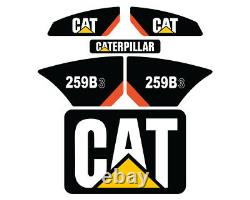 259B3 CAT Decals Stickers Skid Steer Set Kit FREE SHIPPING