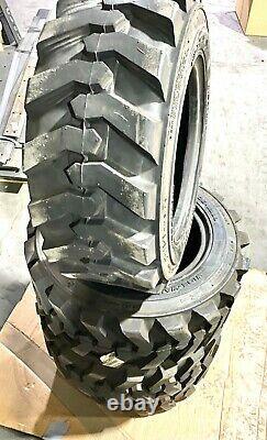 4- 27X10.50-15 Skid Steer Tires 27 X 10.5-15 for Bobcat 553, S100 6987703 HD OEM