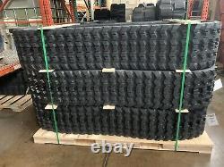 400x86x53 QTY 2 Cat Caterpillar 259D 259B 259B3 Wide Rubber Tracks Zig Zag Lug