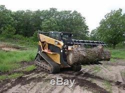 84 Log, Brush & Rock Grappler for Skid Steer 3000 Hydraulic Cylinder T1 Steel