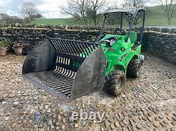 Avant loader Log Riddle Bucket 0.6m3 1.3m wide multi one-forestry-skidsteer