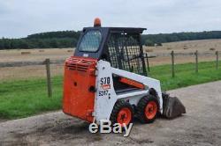 BOBCAT S70 y2014 739hours SKID STEER LOADER + Bucket Kubota Engine £11200+VAT
