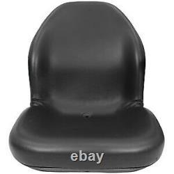 Black Seat 240 250 260 280 313 315 317 325 328 332 Fits John Deere Skid Steer