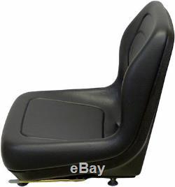Black Seat Fits John Deere 375, 570, 575, 675, 675b, 3375, 4475, 5575, 6675, #qh