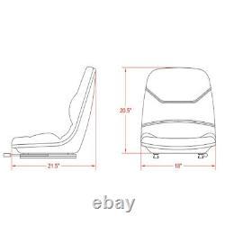 Black Seat fits Case Backhoe Loader 580C 580D 580E 580L 580M Skid Steer Loader