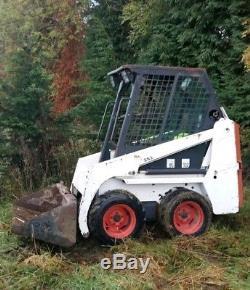 Bobcat 453 s70 micro skid steer loader w bucket. Case farm muck grab attachment