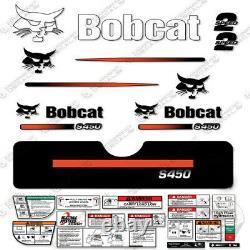 Bobcat S450 Compact Track Loader Decal Kit Skid Steer S-450 (Straight Stripe)
