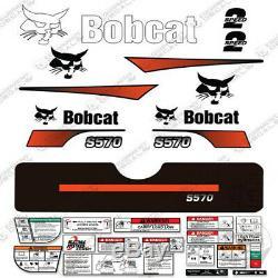 Bobcat S570 Compact Track Loader Decal Kit Skid Steer (Curved Stripes)