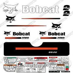 Bobcat S630 Decal Kit Skid Steer (Straight Stripes)
