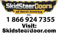 Bobcat T190 Through T320 1/2 Extreme Lexan Skid Steer Loader Door plus Sides