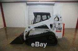 Bobcat T190 Turbo Skid Steer Track Loader, Open Rops, Iso/h Pattern
