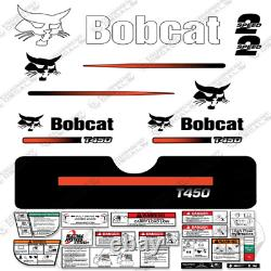 Bobcat T450 Compact Track Loader Decal Kit Skid (Straight Stripes)