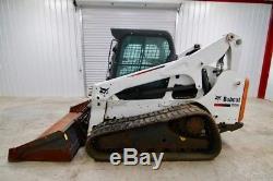 Bobcat T770 Cab Skid Steer Track Loader, Ac/heat, 2-speed, 92 HP