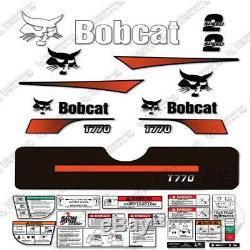 Bobcat T770 Compact Track Loader Decal Kit Skid Steer (Curved Stripes)