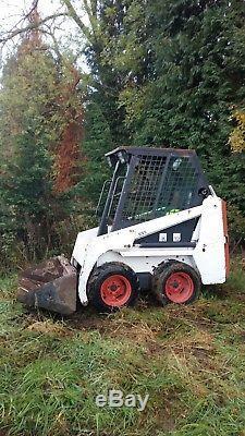Bobcat skid steer loader 453 s70 mini digger jcb micro gehl bucket grab 826 hrs