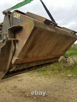 Bobcat skid steer loader bucket brush yard brush NO VAT