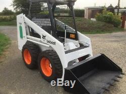 Bobcat skid steer loader digger tractor