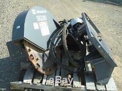 Bradco Sg30 High Flow Skid Steer Stump Grinder