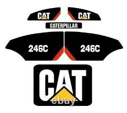 CAT 246C Decals Stickers Kit Skidsteer loader FULL SET CATERPILLAR XPS High Flow