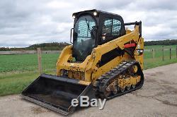 CATERPILLAR 259 D Cat y2014 SKID STEER TRACKED LOADER +BUCKET £21250+VAT