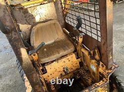 Case 1818 Diesel Skid Steer Kubota With Muck Fork Skidsteer Loader Digger