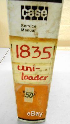 Case 1835 Uni-loader Skid Steer Loader Repair Shop Service Manual 6/80