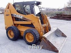 Case 1845C 1/2 Door + cab enclosure. Skid steer loader all Case
