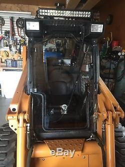 Case 1845C 1/2 LEXAN POLYCARBONATE Door and Sides. SKid steer 1845C, 70t, loader
